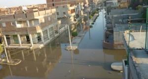 شوارع القنطرة شرق  تسبح فى مياه الصرف الصحى