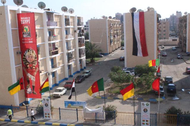 ميادين وشوارع ومبانى الاسماعيلية وخاصة المحيطة باستاد الاسماعيلية باعلام البطولة